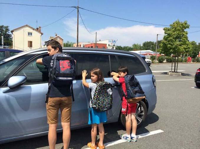 Ξεκαρδιστικές αντιδράσεις γονιών για την πρώτη μέρα των παιδιών τους στο σχολείο (2)