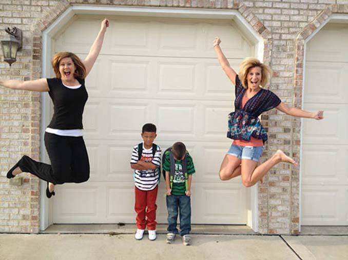Ξεκαρδιστικές αντιδράσεις γονιών για την πρώτη μέρα των παιδιών τους στο σχολείο (11)