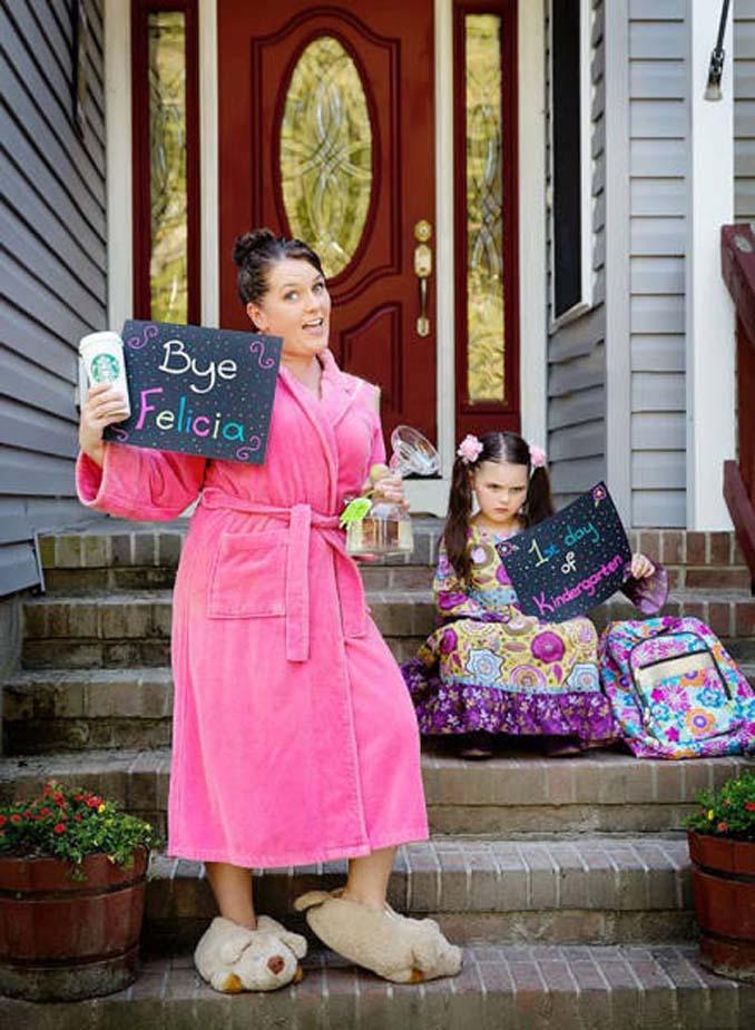 Ξεκαρδιστικές αντιδράσεις γονιών για την πρώτη μέρα των παιδιών τους στο σχολείο (13)