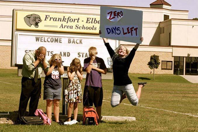 Ξεκαρδιστικές αντιδράσεις γονιών για την πρώτη μέρα των παιδιών τους στο σχολείο (17)