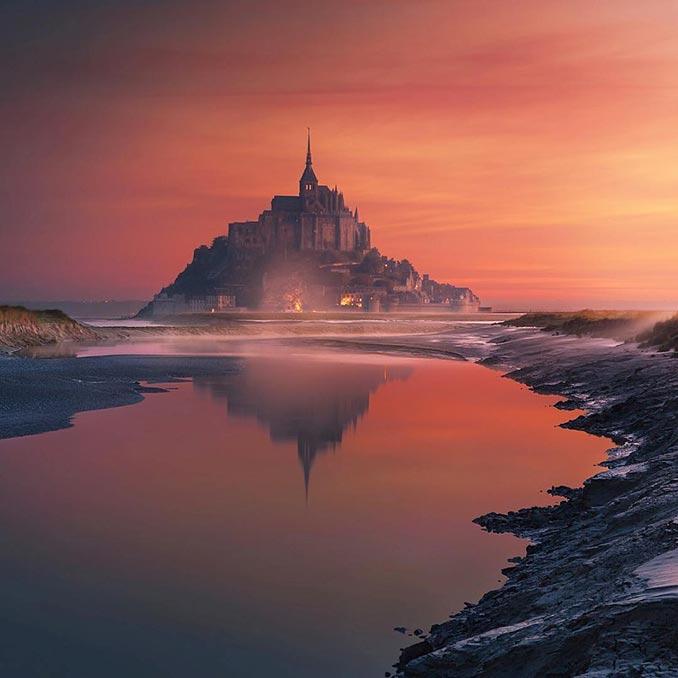 Το Mont Saint Michael σαν βγαλμένο από παραμύθι | Φωτογραφία της ημέρας