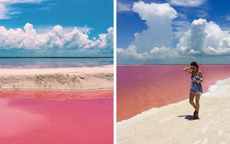 Η ροζ λιμνοθάλασσα του Μεξικού μοιάζει βγαλμένη από άλλο πλανήτη (1)