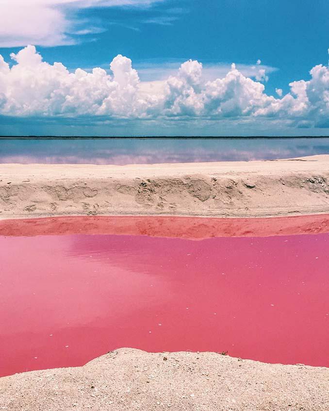 Η ροζ λιμνοθάλασσα του Μεξικού μοιάζει βγαλμένη από άλλο πλανήτη (2)