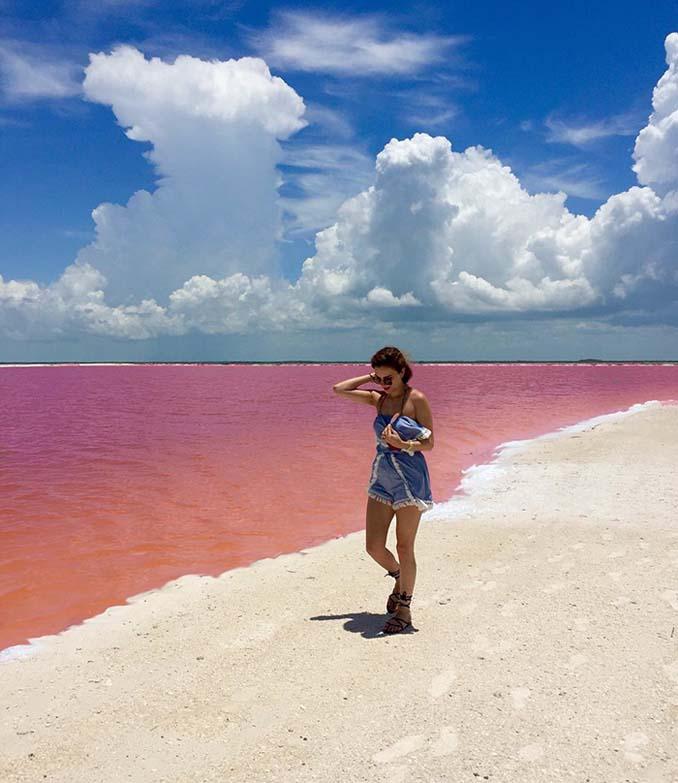 Η ροζ λιμνοθάλασσα του Μεξικού μοιάζει βγαλμένη από άλλο πλανήτη (8)