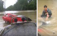 Συγκλονιστική διάσωση σε πλημμύρα