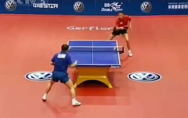 Τέτοιον αγώνα ping pong δεν έχετε ξαναδεί