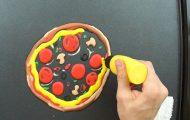 Τηγανίτα με μορφή πίτσας