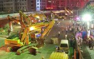 116 εκσκαφείς κατεδαφίζουν μια τεράστια γέφυρα στην Κίνα μέσα σε μια νύχτα