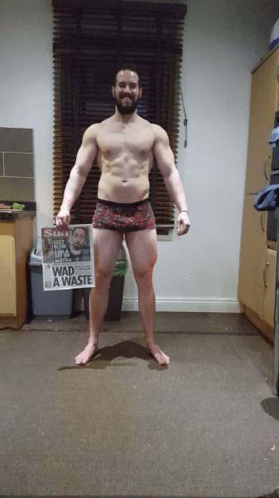 Απαλλάχθηκε από την μπυροκοιλιά και έγινε bodybuilder μέσα σε 16 εβδομάδες (7)