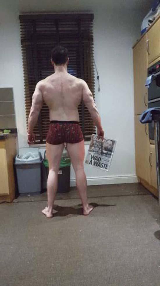 Απαλλάχθηκε από την μπυροκοιλιά και έγινε bodybuilder μέσα σε 16 εβδομάδες (9)