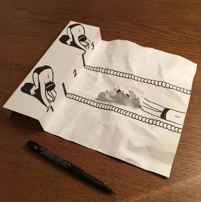 Απλά φύλλα χαρτιού μετατρέπονται σε διασκεδαστικές 3D σκηνές (1)
