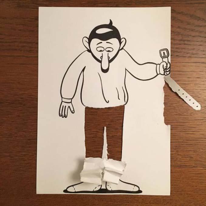 Απλά φύλλα χαρτιού μετατρέπονται σε διασκεδαστικές 3D σκηνές (3)