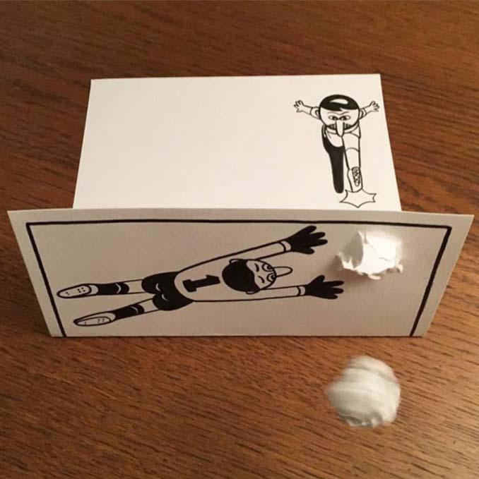 Απλά φύλλα χαρτιού μετατρέπονται σε διασκεδαστικές 3D σκηνές (5)
