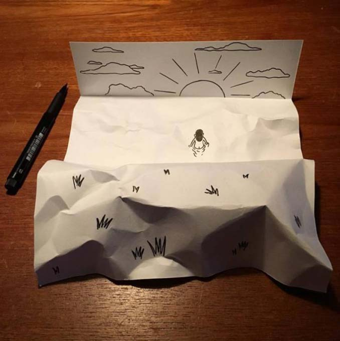 Απλά φύλλα χαρτιού μετατρέπονται σε διασκεδαστικές 3D σκηνές (6)