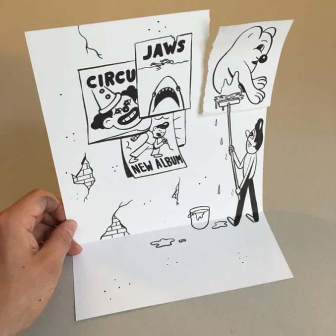 Απλά φύλλα χαρτιού μετατρέπονται σε διασκεδαστικές 3D σκηνές (9)