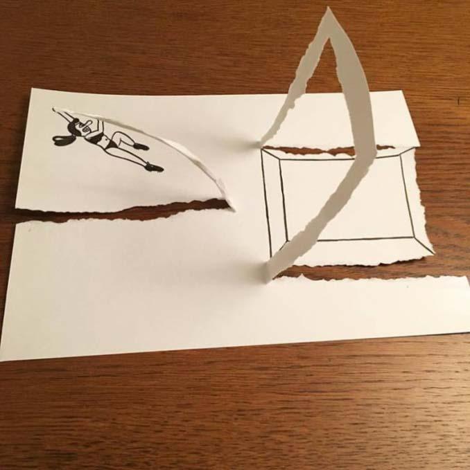 Απλά φύλλα χαρτιού μετατρέπονται σε διασκεδαστικές 3D σκηνές (16)