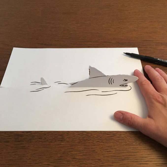 Απλά φύλλα χαρτιού μετατρέπονται σε διασκεδαστικές 3D σκηνές (18)
