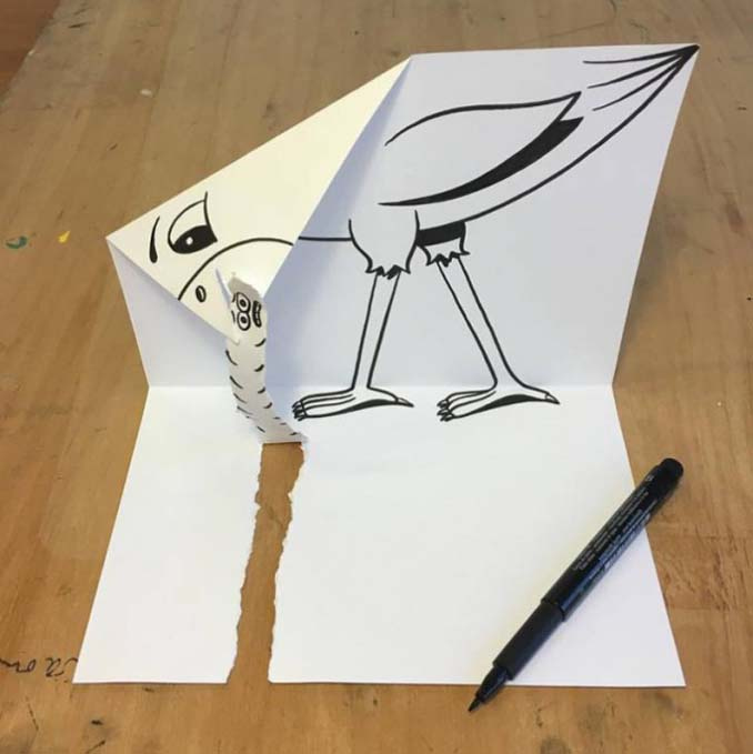 Απλά φύλλα χαρτιού μετατρέπονται σε διασκεδαστικές 3D σκηνές (22)