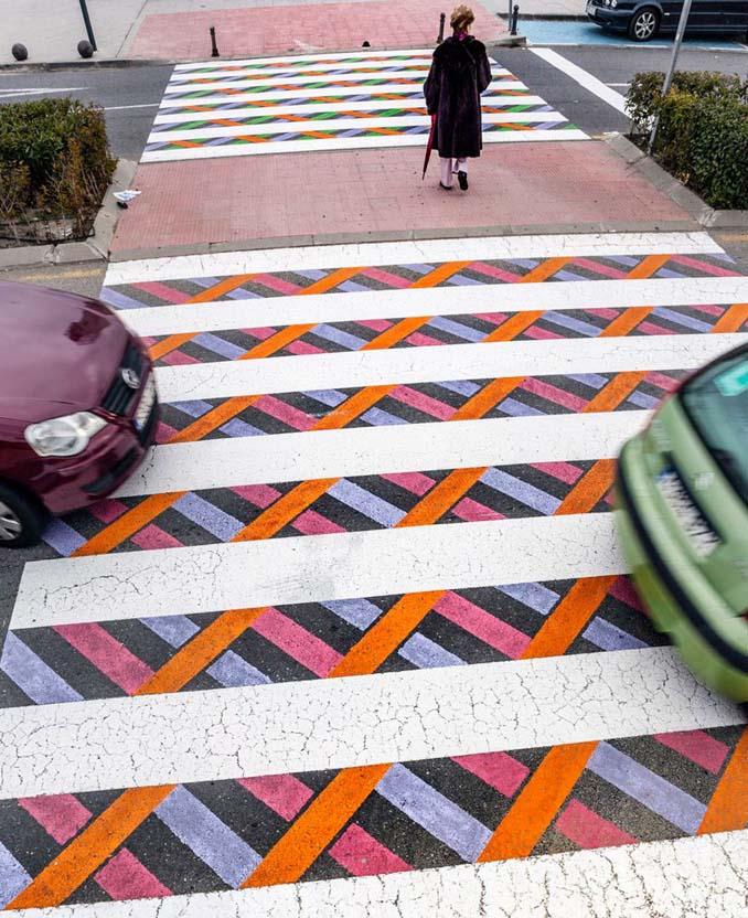 Διαβάσεις πεζών στη Μαδρίτη μετατράπηκαν σε χρωματιστά έργα τέχνης (3)