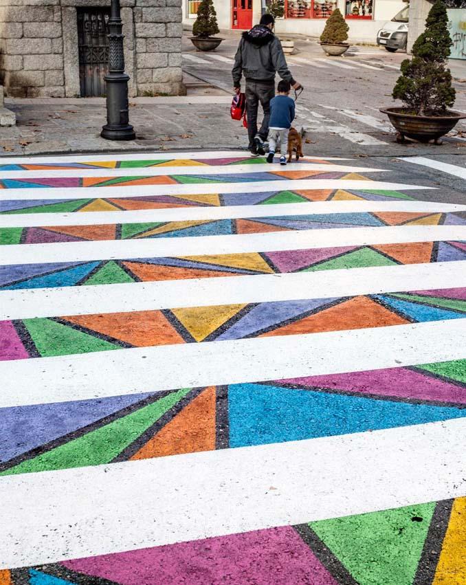 Διαβάσεις πεζών στη Μαδρίτη μετατράπηκαν σε χρωματιστά έργα τέχνης (5)