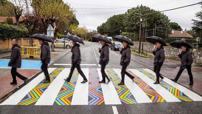 Διαβάσεις πεζών στη Μαδρίτη μετατράπηκαν σε χρωματιστά έργα τέχνης (7)