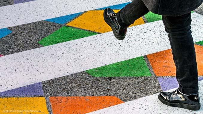 Διαβάσεις πεζών στη Μαδρίτη μετατράπηκαν σε χρωματιστά έργα τέχνης (8)
