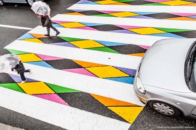Διαβάσεις πεζών στη Μαδρίτη μετατράπηκαν σε χρωματιστά έργα τέχνης (9)