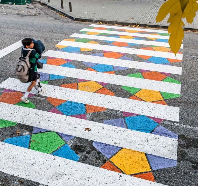 Διαβάσεις πεζών στη Μαδρίτη μετατράπηκαν σε χρωματιστά έργα τέχνης (10)
