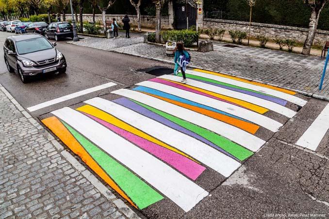 Διαβάσεις πεζών στη Μαδρίτη μετατράπηκαν σε χρωματιστά έργα τέχνης (11)
