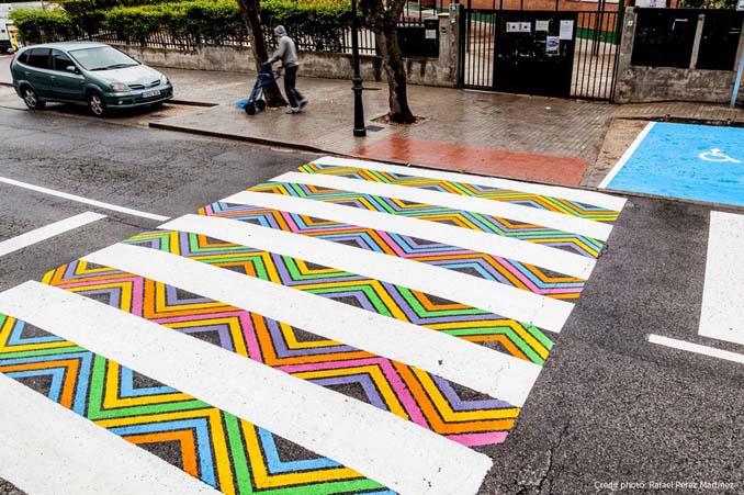 Διαβάσεις πεζών στη Μαδρίτη μετατράπηκαν σε χρωματιστά έργα τέχνης (12)