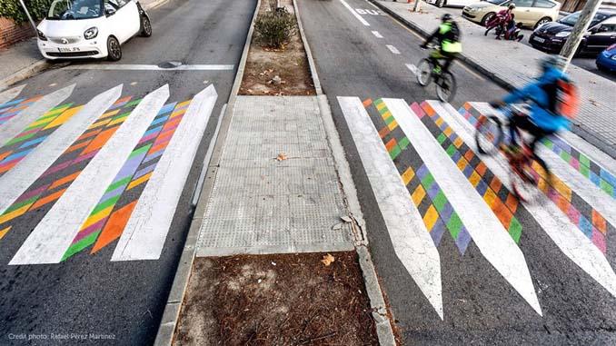 Διαβάσεις πεζών στη Μαδρίτη μετατράπηκαν σε χρωματιστά έργα τέχνης (13)