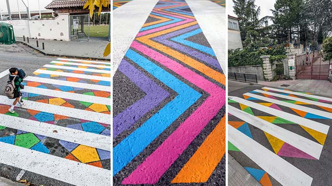 Διαβάσεις πεζών στη Μαδρίτη μετατράπηκαν σε χρωματιστά έργα τέχνης (1)