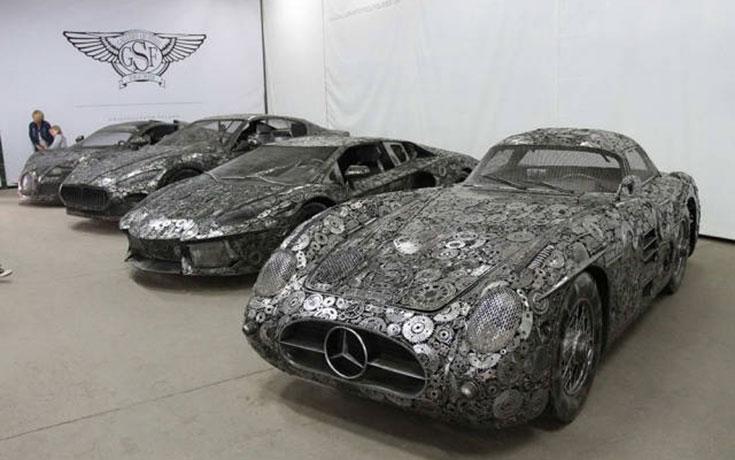 Καλλιτέχνες δημιούργησαν εντυπωσιακά γλυπτά αυτοκινήτων με παλιοσίδερα (1)