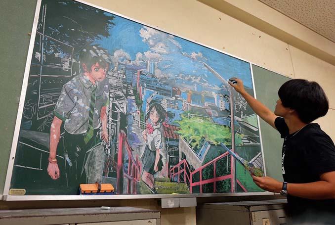 Καθηγητής από την Ιαπωνία εκπλήσσει τους μαθητές του με απίστευτα έργα τέχνης στον πίνακα (4)