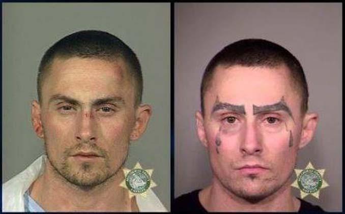 Ο «κατήφορος» ενός άνδρα μέσα από τις φωτογραφίες συλλήψεων του (2)