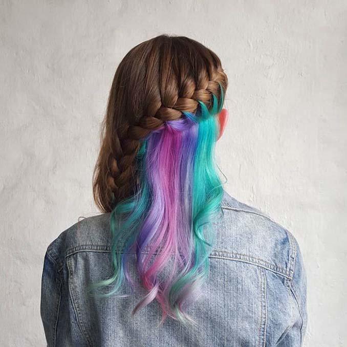 Μαλλιά με κρυμμένο ουράνιο τόξο (6)