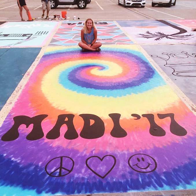 Μαθητές λυκείου στις ΗΠΑ βάφουν τις θέσεις πάρκινγκ τους (1)