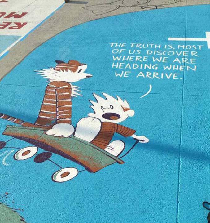 Μαθητές λυκείου στις ΗΠΑ βάφουν τις θέσεις πάρκινγκ τους (3)