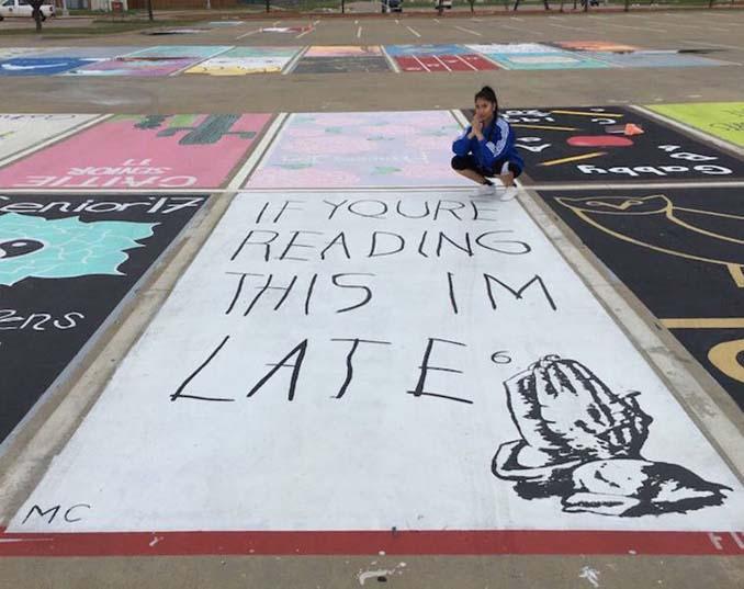 Μαθητές λυκείου στις ΗΠΑ βάφουν τις θέσεις πάρκινγκ τους (4)