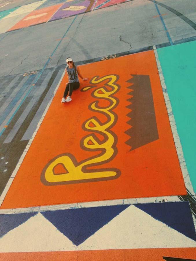 Μαθητές λυκείου στις ΗΠΑ βάφουν τις θέσεις πάρκινγκ τους (5)