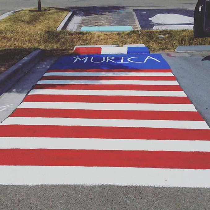 Μαθητές λυκείου στις ΗΠΑ βάφουν τις θέσεις πάρκινγκ τους (8)