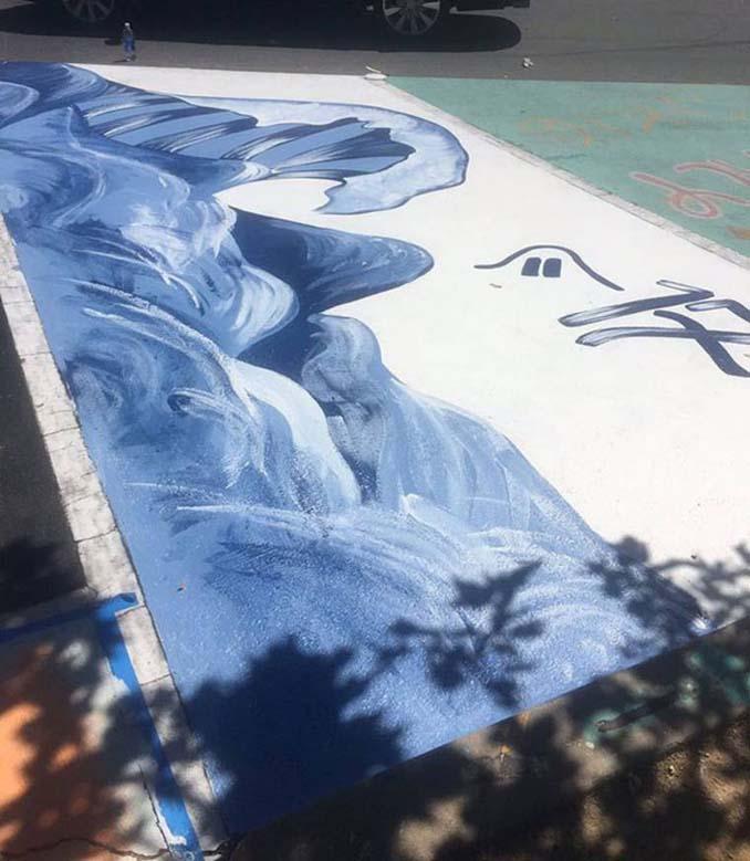Μαθητές λυκείου στις ΗΠΑ βάφουν τις θέσεις πάρκινγκ τους (9)