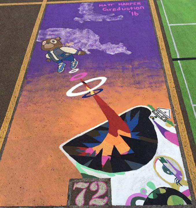 Μαθητές λυκείου στις ΗΠΑ βάφουν τις θέσεις πάρκινγκ τους (10)