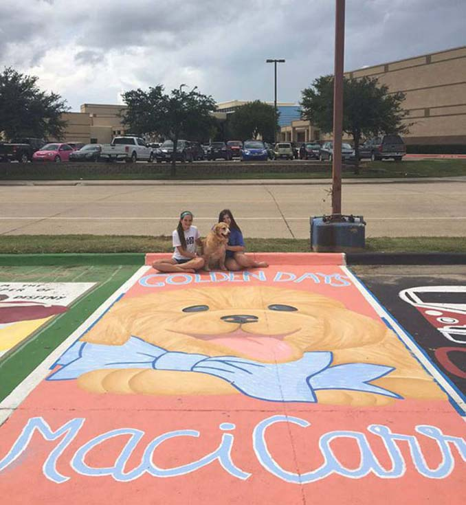 Μαθητές λυκείου στις ΗΠΑ βάφουν τις θέσεις πάρκινγκ τους (19)