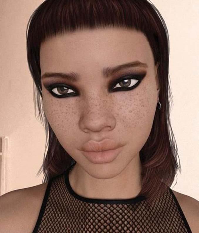 Μοντέλο του Instagram κάνει τους followers της να αναρωτιούνται αν είναι αληθινή ή Sim (10)