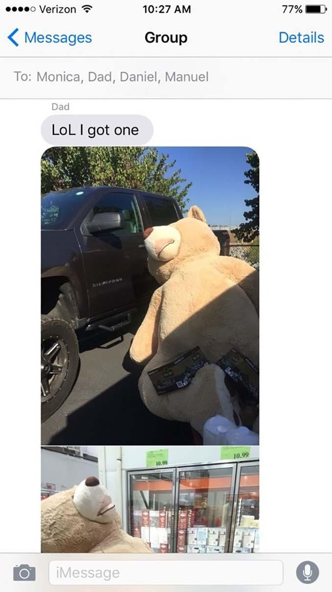 Παππούς πήρε στην εγγονή του ένα υπερβολικά γιγάντιο αρκουδάκι και το Internet τρελάθηκε (4)