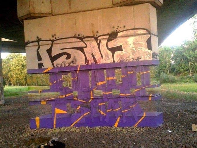 Οφθαλμαπάτη διάφανου graffiti   Φωτογραφία της ημέρας