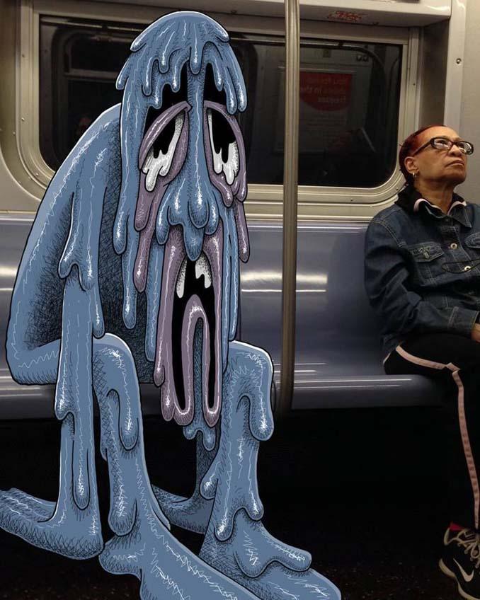 Σκιτσογράφος σχεδιάζει παράξενα τέρατα στη Νέα Υόρκη (6)
