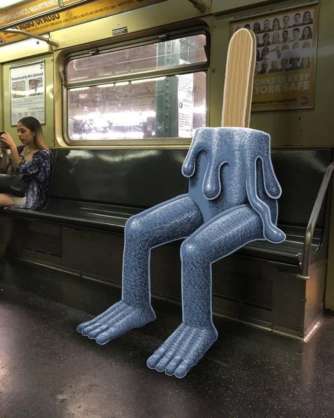 Σκιτσογράφος σχεδιάζει παράξενα τέρατα στη Νέα Υόρκη (9)