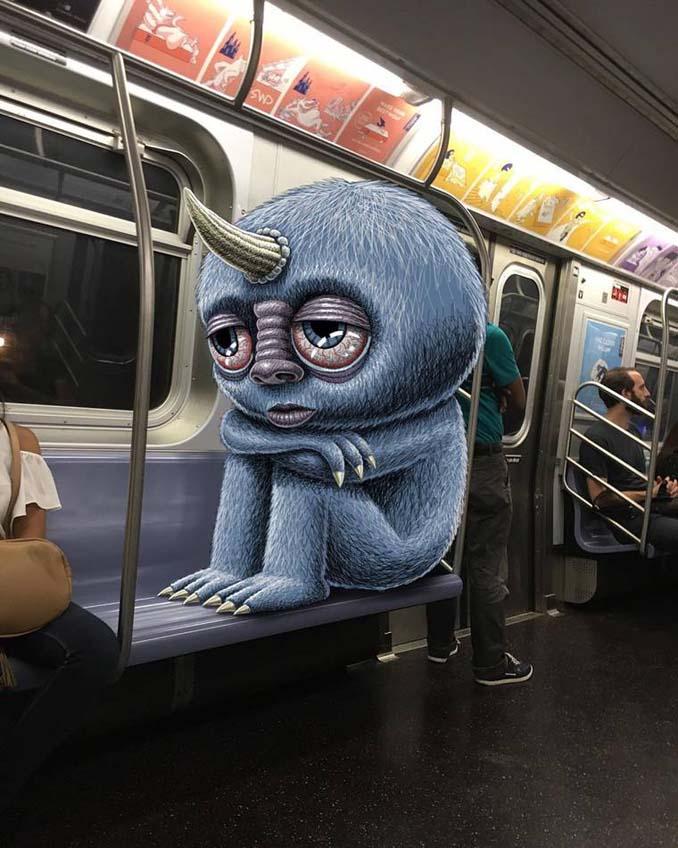 Σκιτσογράφος σχεδιάζει παράξενα τέρατα στη Νέα Υόρκη (14)